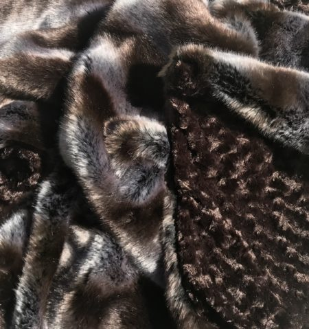 Grey embrace faux fur throw blanket