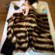 Mocha Embrace fur throw blanket