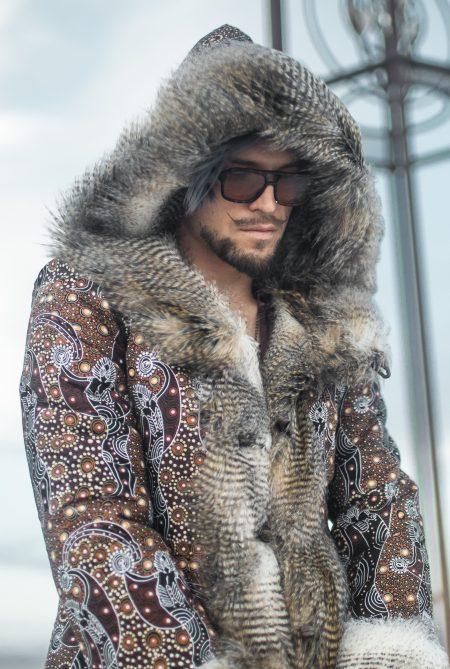 Master Of Spirits mens fur coat