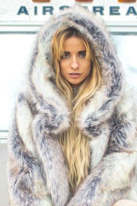 Desert Lioness Burning Man fur coat